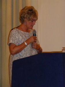Claire speaking